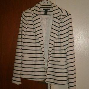 Jackets & Blazers - Navy blue and white blazer.